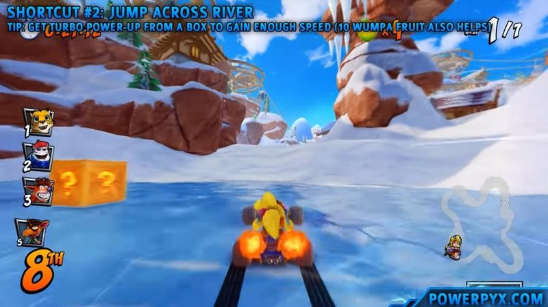 《古惑狼賽車》暴雪懸崖捷徑位置攻略 古惑狼暴雪地圖近路在哪兒