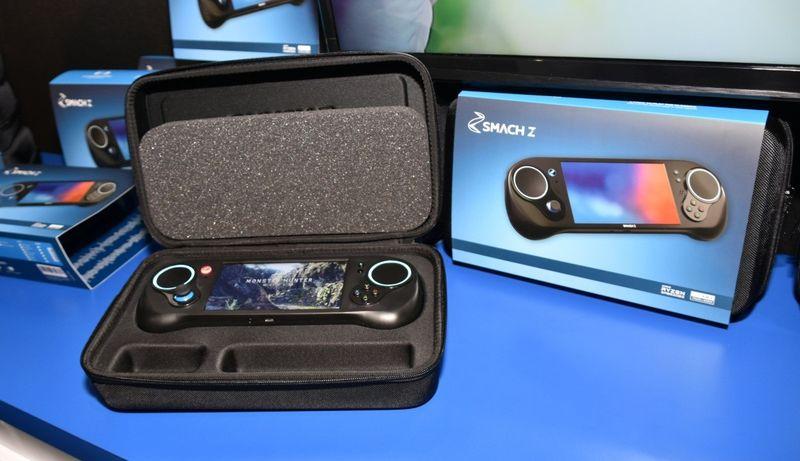 掌機也能玩《怪物獵人世界》 便攜游戲PC「SMACH Z」演示