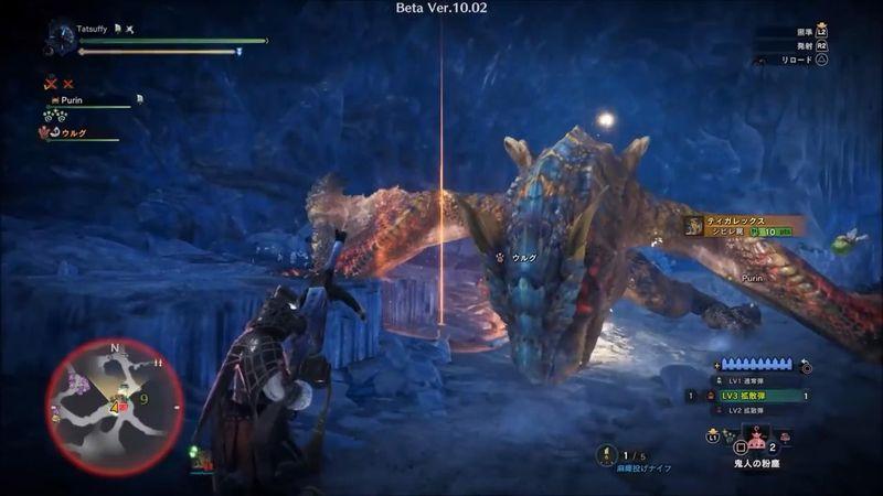 《怪物猎人世界 Iceborne》轰龙重弩道具扩散流速杀视频