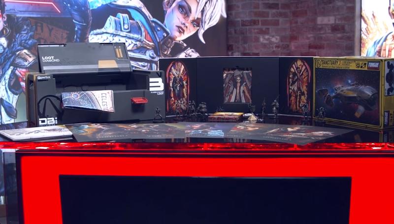 《无主之地3》典藏版开箱 包含丰富周边及游戏道具