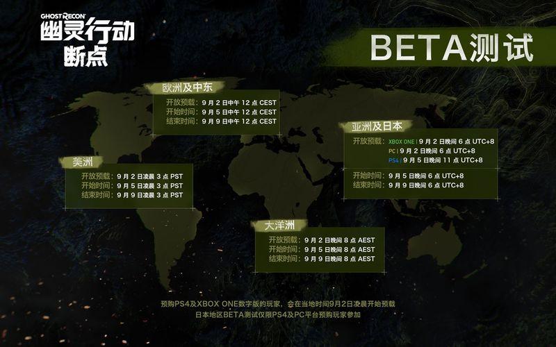 《幽灵行动 断点》Beta测试将于9月5日正式启动
