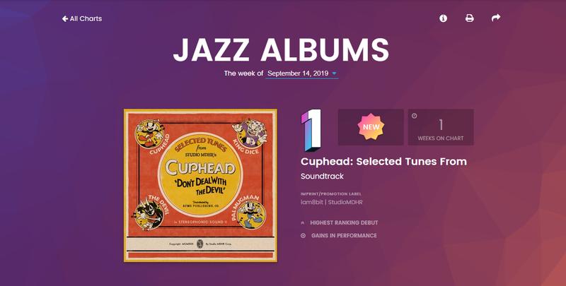 游戏音乐首次登顶Billboard 《茶杯头》黑胶唱片拿下爵士榜首
