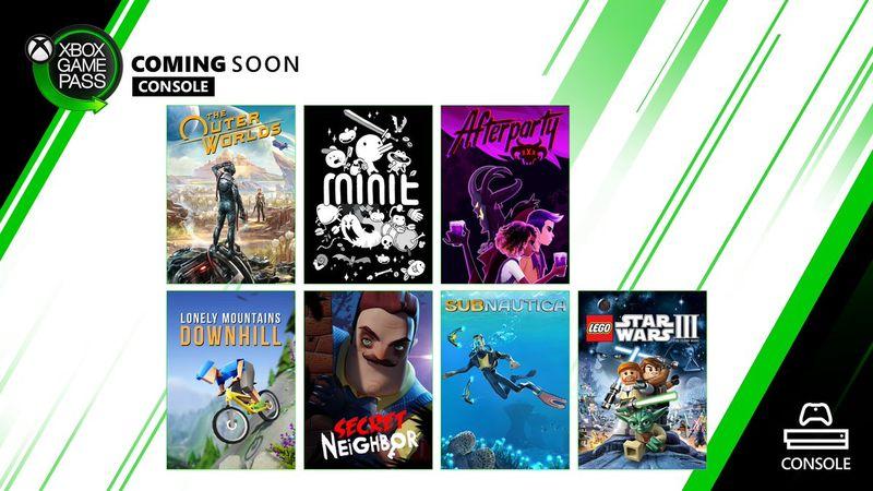 《天外世界》等多款作品将在近期登陆Xbox Game Pass