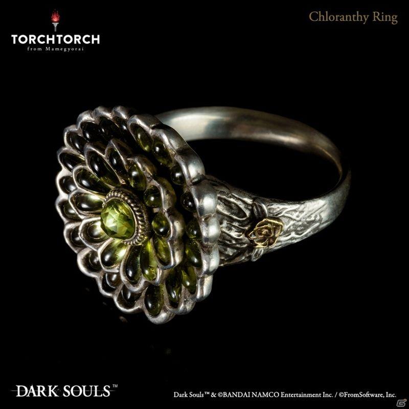 TORCH TORCH推出《黑暗之魂》绿花戒指实物饰品 戴上更持久