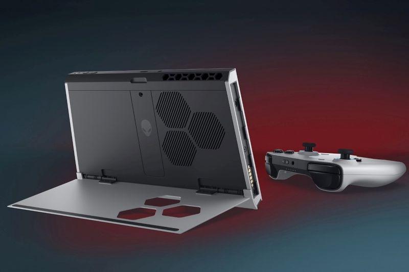 Alienware公开Win10系统掌上游戏设备 造型设计类似Switch