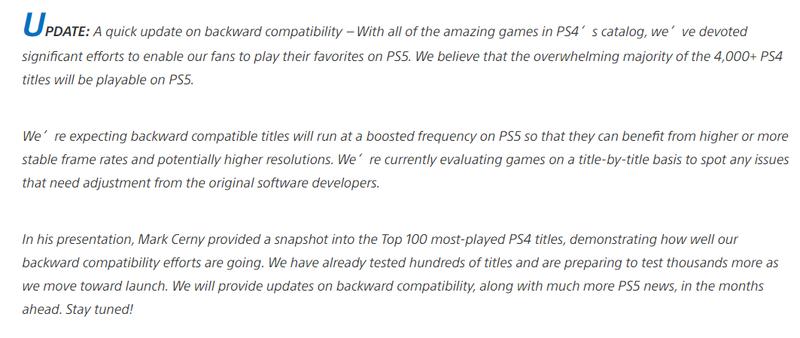 PS5將向下兼容大多數PS4遊戲 擁有更高更穩定的幀數