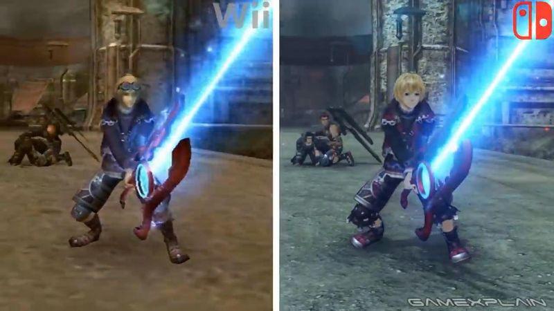 外媒制作《异度神剑 终极版》和Wii版的画面对比影像