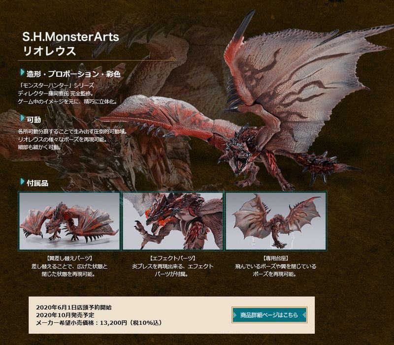 S.H.MonsterArts x 《怪物獵人》第一彈聯動周邊公開 雄火龍和迅龍