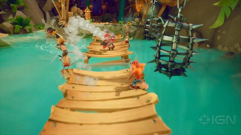 《古惑狼4 时机已到》实机演示公开 海盗关和玩法展示
