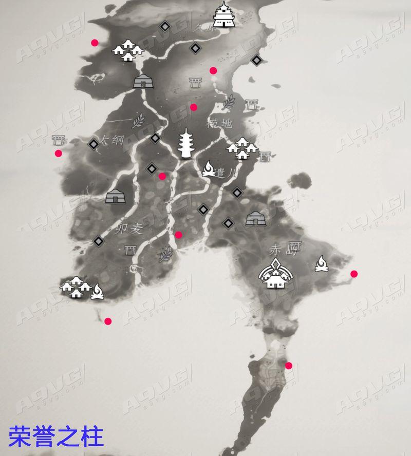 《对马岛之魂》全刀具收集攻略 全荣誉之柱位置地点