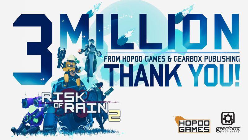 《雨中冒险2》玩家人数突破300万 官方发布感谢推文