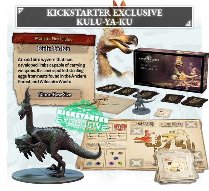 《怪物猎人 世界》桌游开启Kickstarter众筹 预计2022年推出
