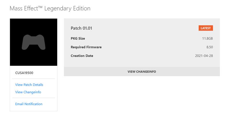《质量效应 传奇版》首日补丁高达11.8G 内容一览