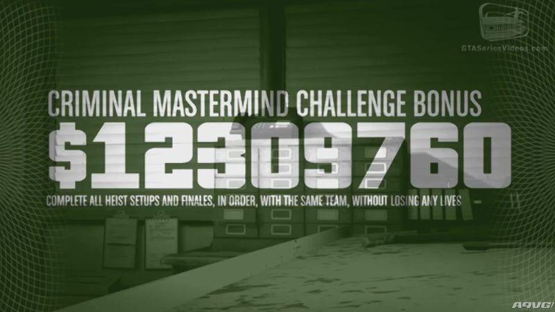 PS4/XB1《侠盗猎车手5》联机抢劫任务犯罪首脑挑战攻略