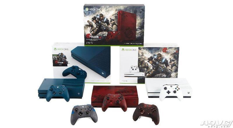 两款《战争机器4》同捆Xbox One S套装公布 颜色和硬盘均不同