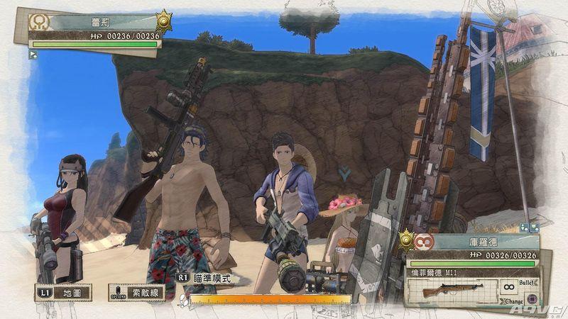 """《战场女武神4》DLC""""E小队前往海边""""已上架 可以看泳装了"""