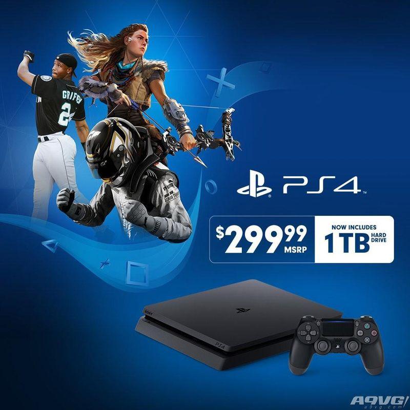 PS4 Slim宣布降价 1TB硬盘版新价格为299.99美元