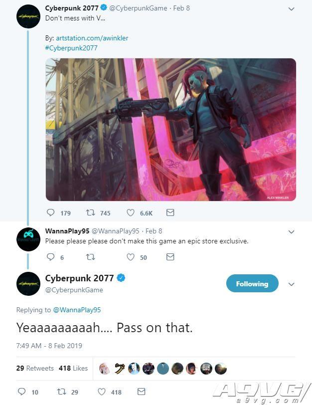 CDPR确认《赛博朋克2077》PC版不会由Epic商店独占