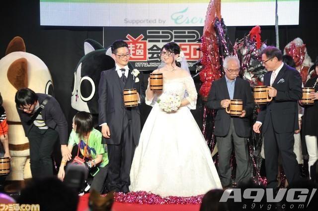 超会议2018举办怪物猎人主题超婚礼 远古龙大剑切蛋糕