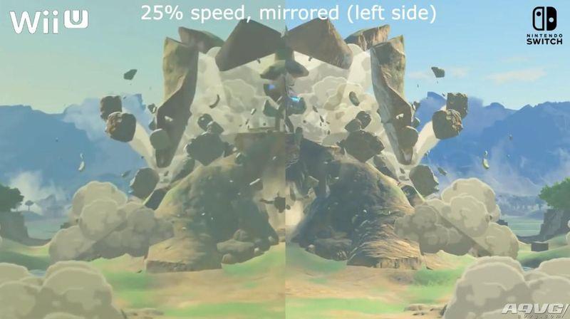 《塞尔达传说 荒野之息》Wii U与Switch版本画面对比视频公开