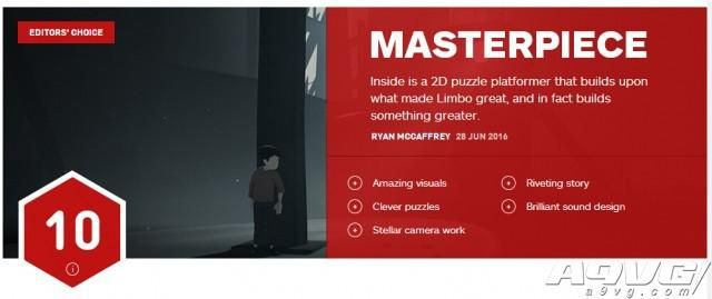 《地狱边境》团队新作《INSIDE》获得IGN满分10分评价