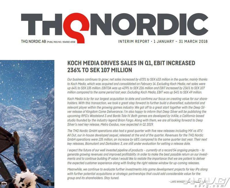《地铁 大逃亡》THQ Nordic宣布延期至2019年第1季度推出