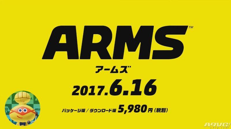 《Arms》将于6月16日发售 新角色和2V2对战模式公开