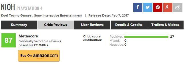 《仁王》获IGN 9.6最终评分 令人惊艳的战斗与BOSS战设计