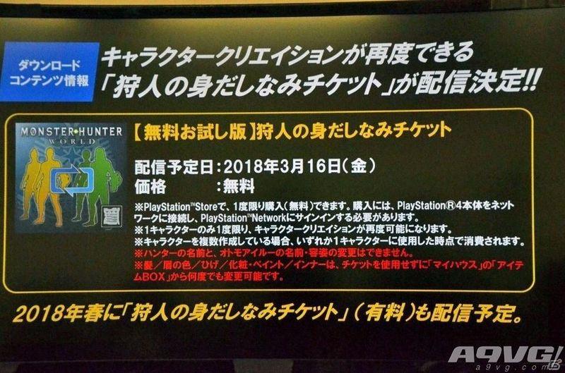 《怪物猎人世界》将提供重新捏人功能 首次免费可以变性