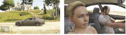 PS4/XB1《侠盗猎车手5》利他邪教和三位搭车mm地点地图