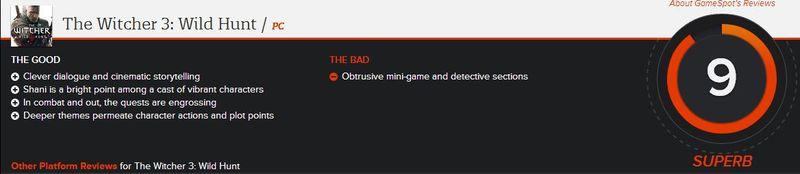 《巫师3 石之心》再获高评分 品质不容置疑