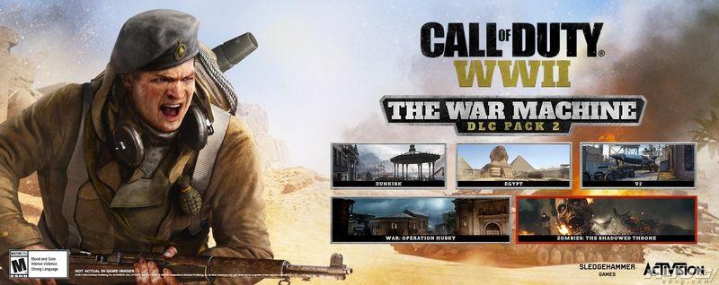 《使命召唤二战》第二个DLC扩展包The War Machine公布