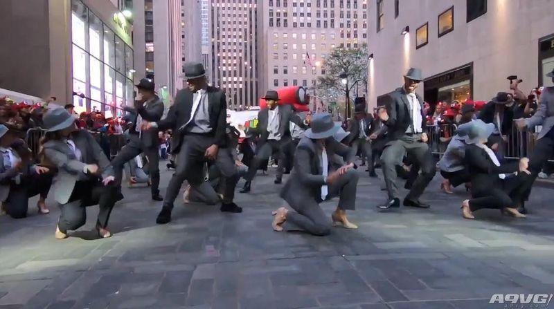 《超级马里奥奥德赛》纽约售卖活动欢乐起舞