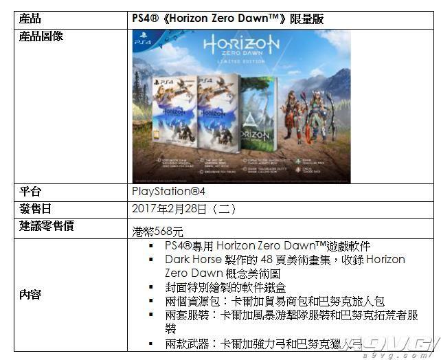 《地平线:黎明时刻》港中版2月28日发售 数字版开放预订