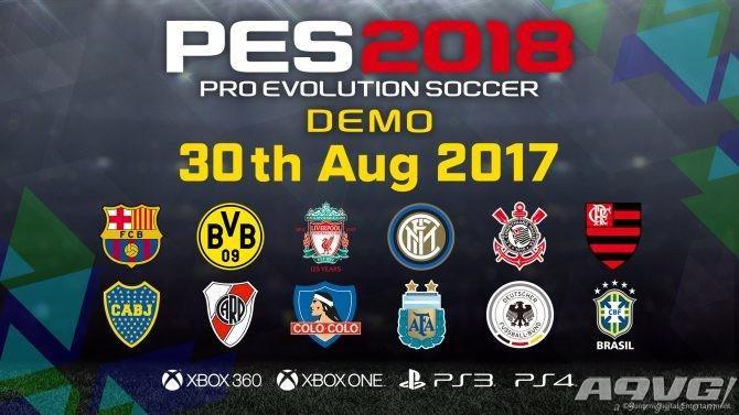 《实况足球2018》将在8月30日推出试玩Demo