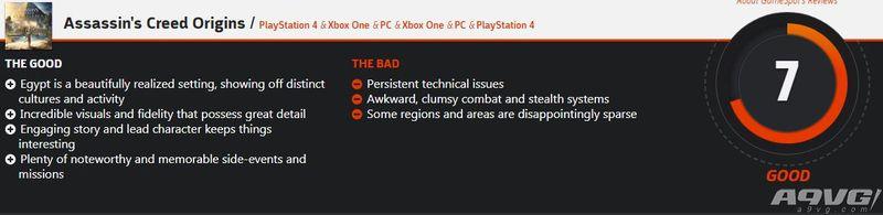 《刺客信条 起源》IGN和GS评分公布 评分差异明显