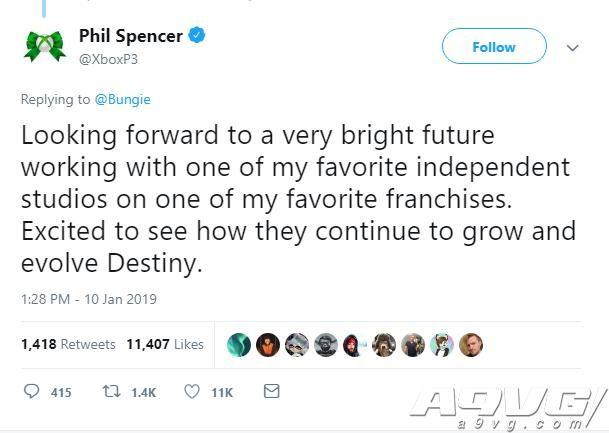 Bungie宣布收回《命运》之后 业内人士纷纷发来贺电