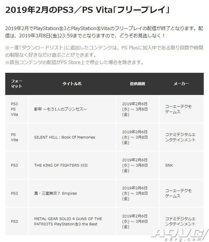 PS+会员2019年2月免费游戏汇总 Plus港服日服欧美服会免阵容