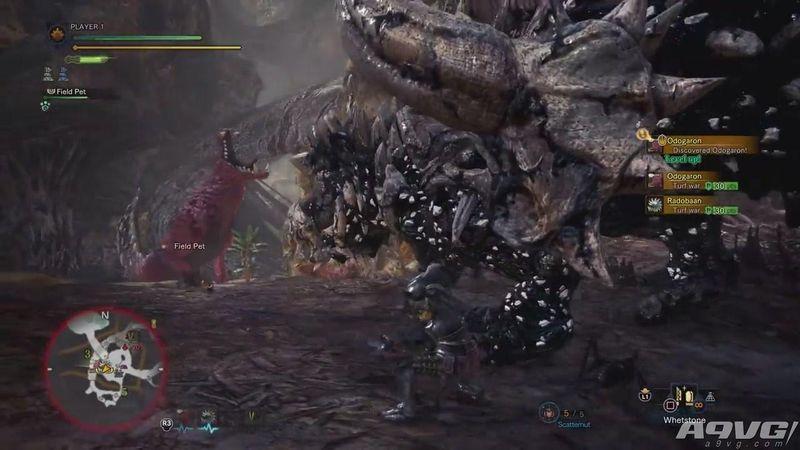 《怪物猎人世界》瘴气之谷实机试玩演示 骨锤龙大战惨爪龙