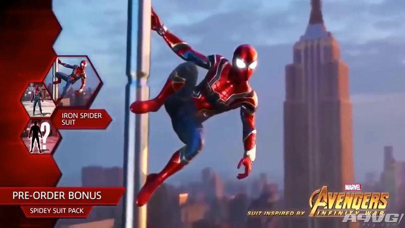 《蜘蛛侠》预购送《复仇者联盟3 无限战争》中的新服装造型