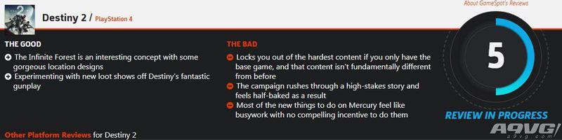 """《命运2》DLC""""冥王诅咒""""获IGN和GS低分评价"""