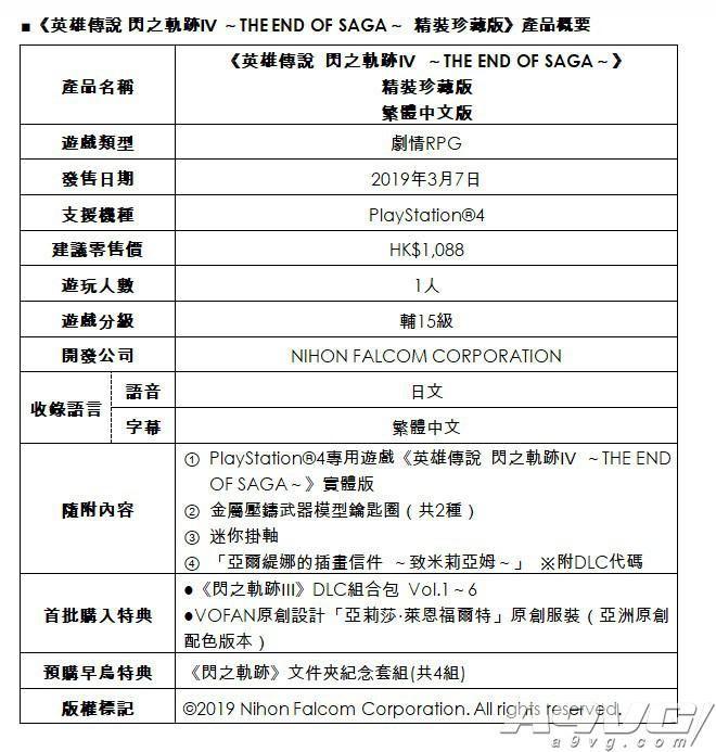 《闪之轨迹4》中文版开启预购 可获得前作DLC及特典服装