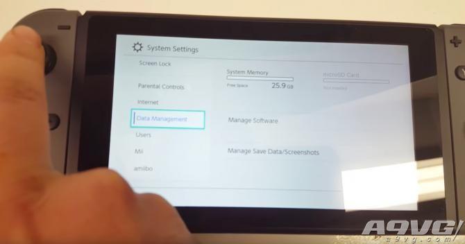 32G版任天堂Switch或只可使用25.9G的硬盘空间