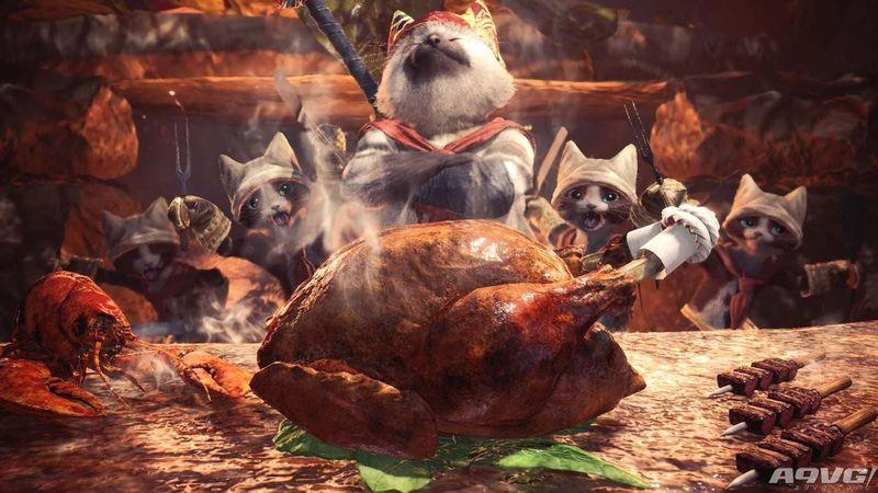 《怪物猎人 世界》进食功能说明 野外也能吃猫饭