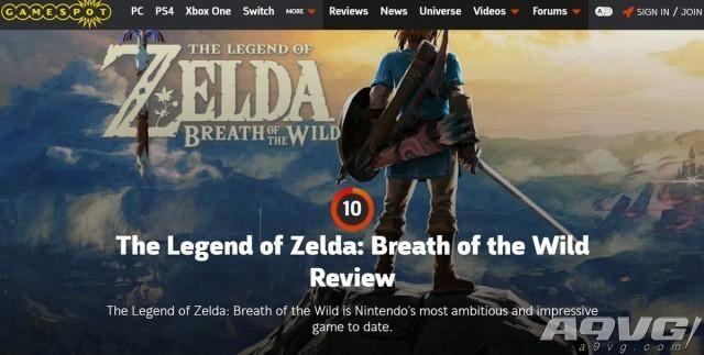 《塞尔达传说 荒野之息》全球媒体评分解禁:IGN、GameSpot、Polygon全部10分满分!