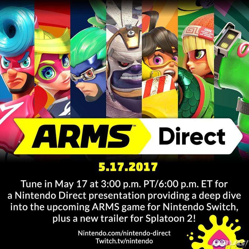 任天堂将于5月18日早6:00举行《ARMS》直面会