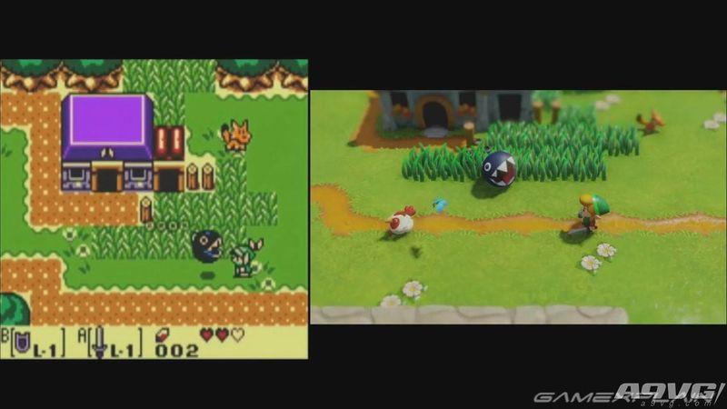 《塞尔达传说 织梦岛》重制版与原版画面对比 时隔26年