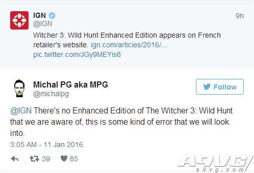 法国零售商放出巫师3加强版销售页面 官方辟谣否认