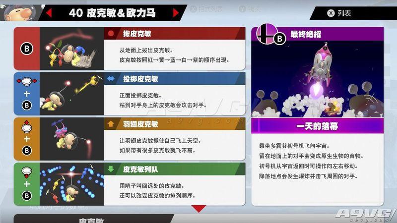 《任天堂明星大乱斗特别版》皮克敏&欧力马攻略用法技能介绍