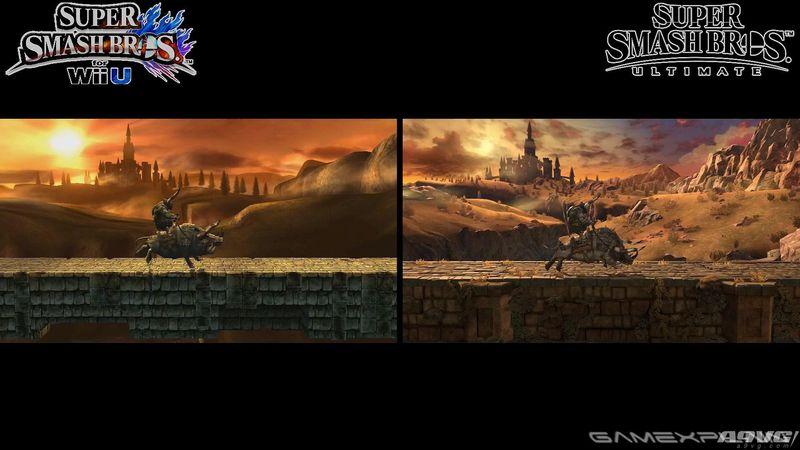 《任天堂明星大乱斗 特别版》与WiiU版比较舞台场景画面